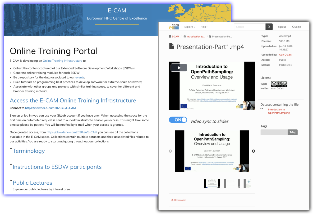 e-cam_online_training_portal_graphics