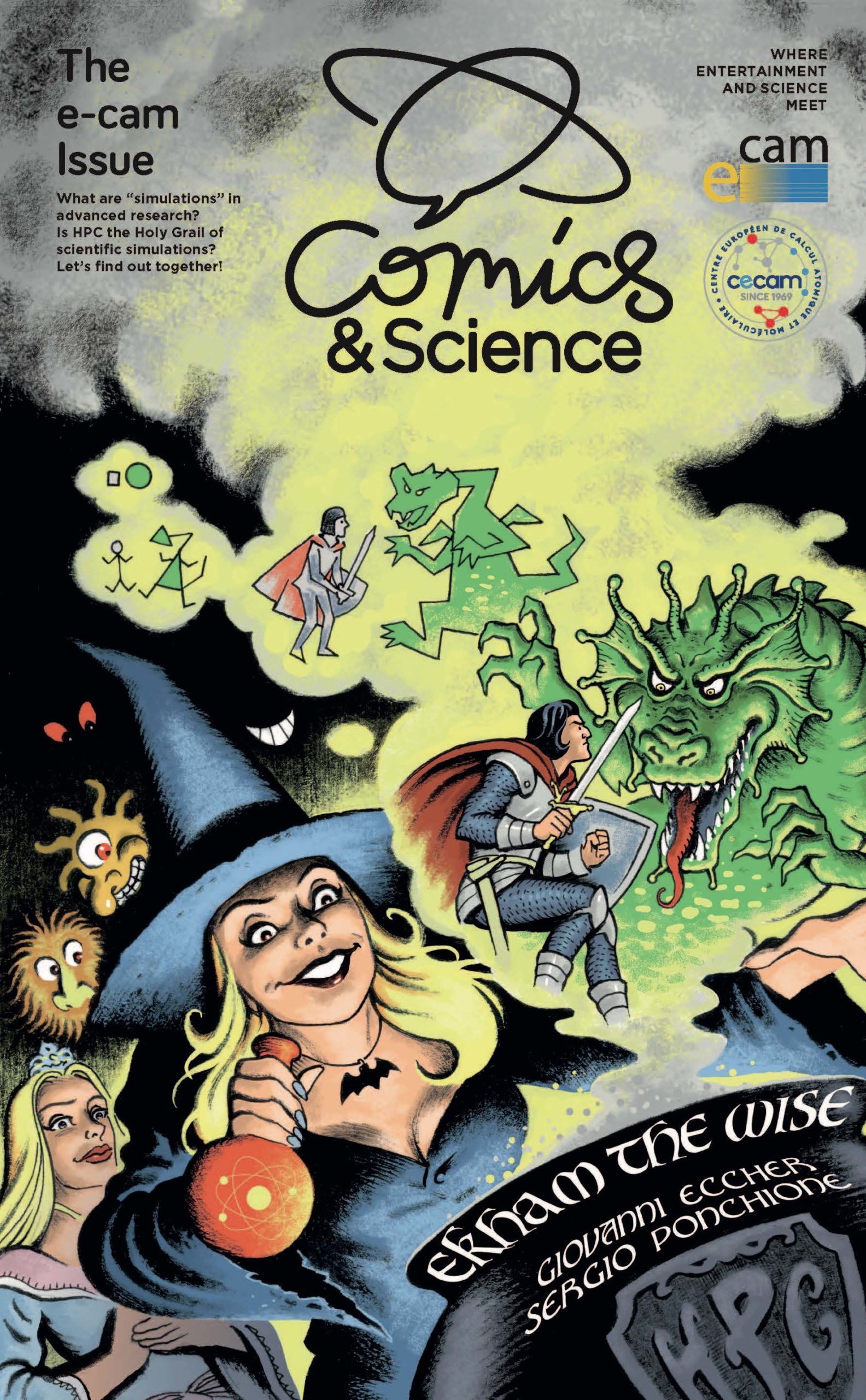 Comics & Science ? The E-CAM issue: an experiment in dissemination